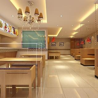 现代快餐店整体模型
