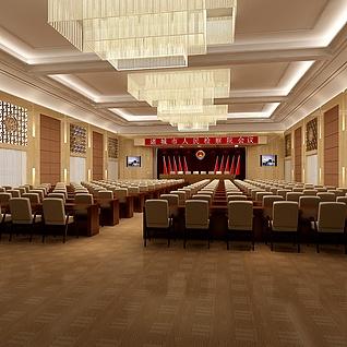 检察院会议室整体模型