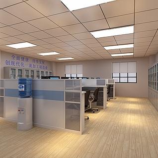 现代化办公室整体模型