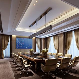 公司会议中心整体模型