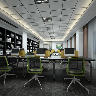 公司办公室整体模型