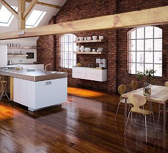 现代厨房餐厅