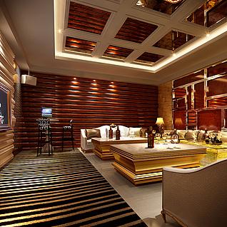 KTV酒吧整体模型