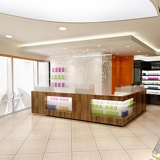 化妆品专卖店整体模型