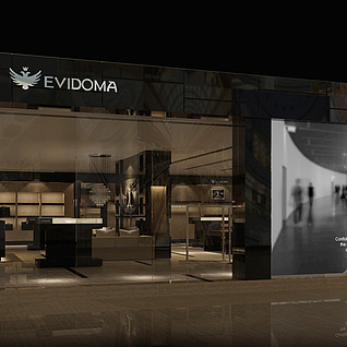 现代专卖店整体模型