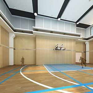 <font class='myIsRed'>籃球場</font>整體模型
