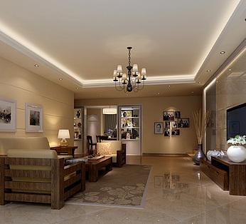 现代家装简约客厅