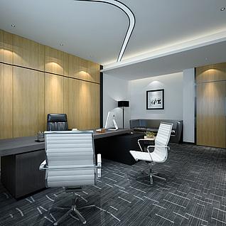 现代办公室整体模型
