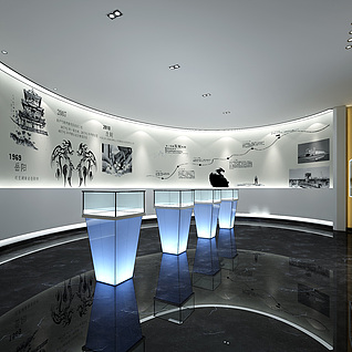 企业文化展厅整体模型