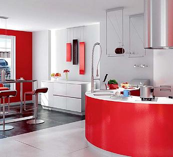 现代简约时尚餐厅厨房