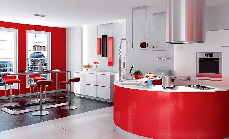 现代简约时尚餐厅厨房模型