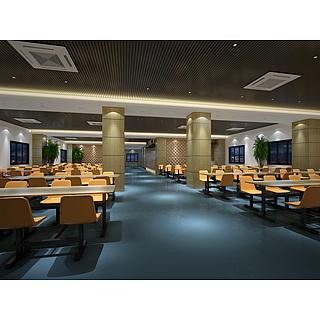 餐厅食堂整体模型