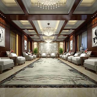 中式会客室整体模型