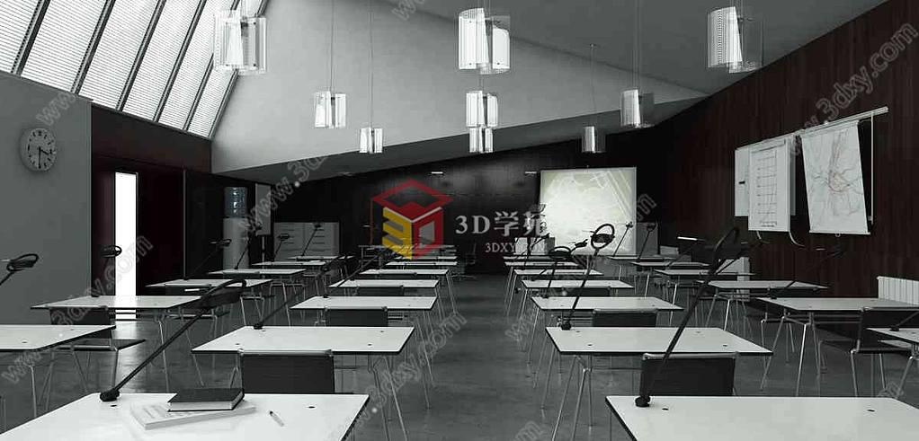 现代会议室教室