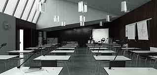 現代會議室教室3d模型