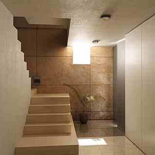 室内楼梯转角整体模型