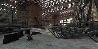 室內工廠廠房3d模型