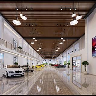 汽车销售中心整体模型