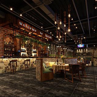 酒吧(工业风)整体模型