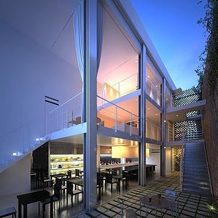 现代时尚别墅整体模型