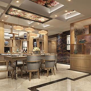 <font class='myIsRed'>新中式</font>客厅餐厅整体模型