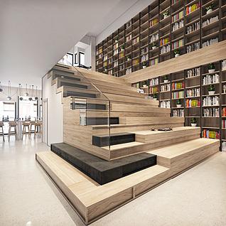 现代楼梯间整体模型