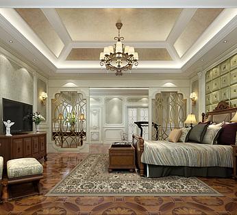 欧式精装卧室