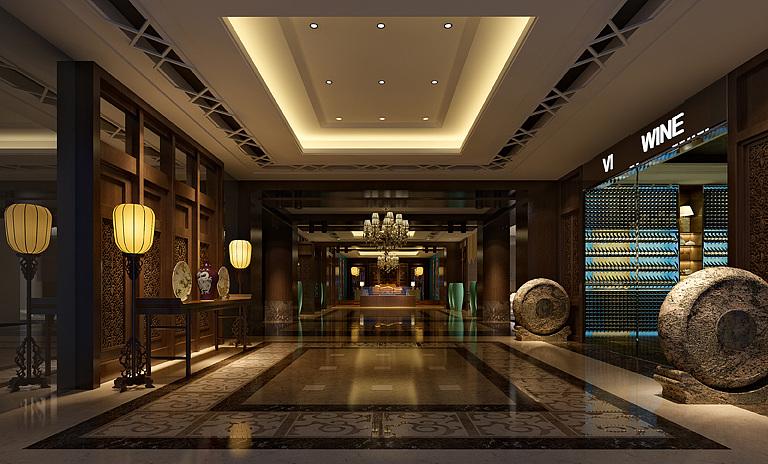 中式餐厅模型