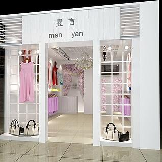 服装店装修设计整体模型