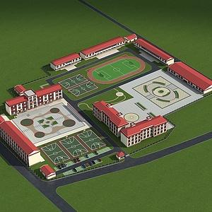 藏族小学模型3d模型