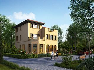 自建别墅3d模型