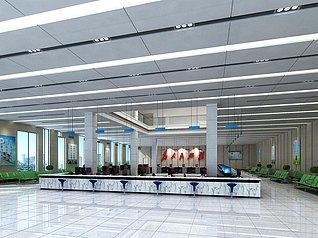 办事中心3d模型