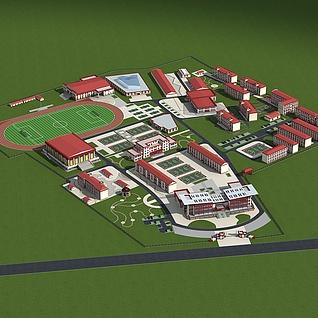 藏文中学整体模型