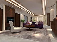 酒店客厅整体模型3d模型