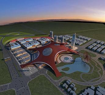 工业园鸟瞰规划