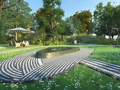 园林小路整体模型