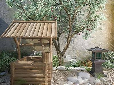 庭院绿化整体模型