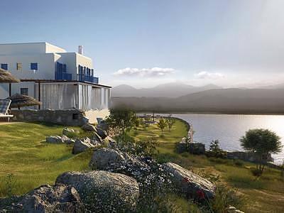 现代建筑环境整体模型