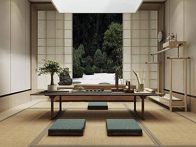 日式茶室整体模型