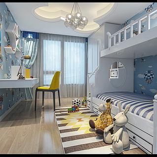 儿童房3d模型