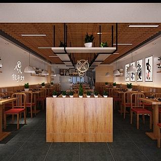 饺子馆3d模型