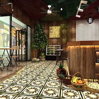 冷饮店整体模型