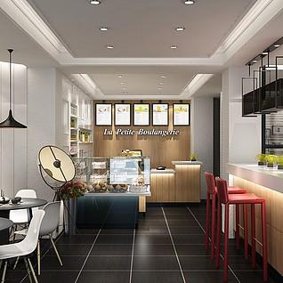 咖啡店整体模型