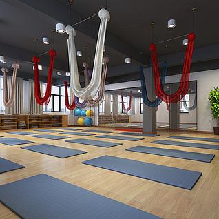 瑜伽室整体模型