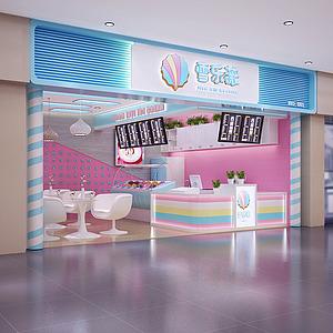 冰淇淋店整體模型
