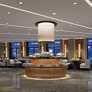 酒店<font class='myIsRed'>餐廳</font>整體模型