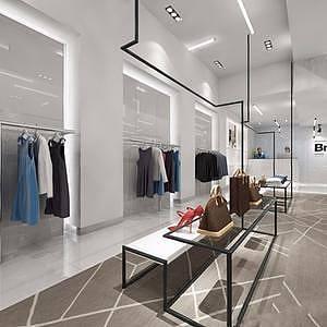现代女装店整体模型