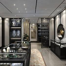 中式珠宝店整体模型
