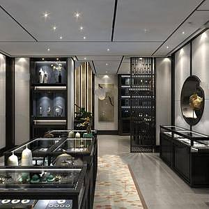 中式珠寶店整體模型