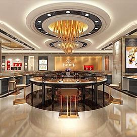 中国珠宝,珠宝店整体模型